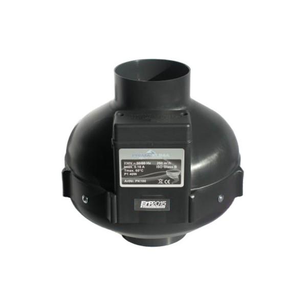 Extracteur prima klima 100mm 160m3 ou 280m3 2 vitesses for Extracteur d air 80 mm