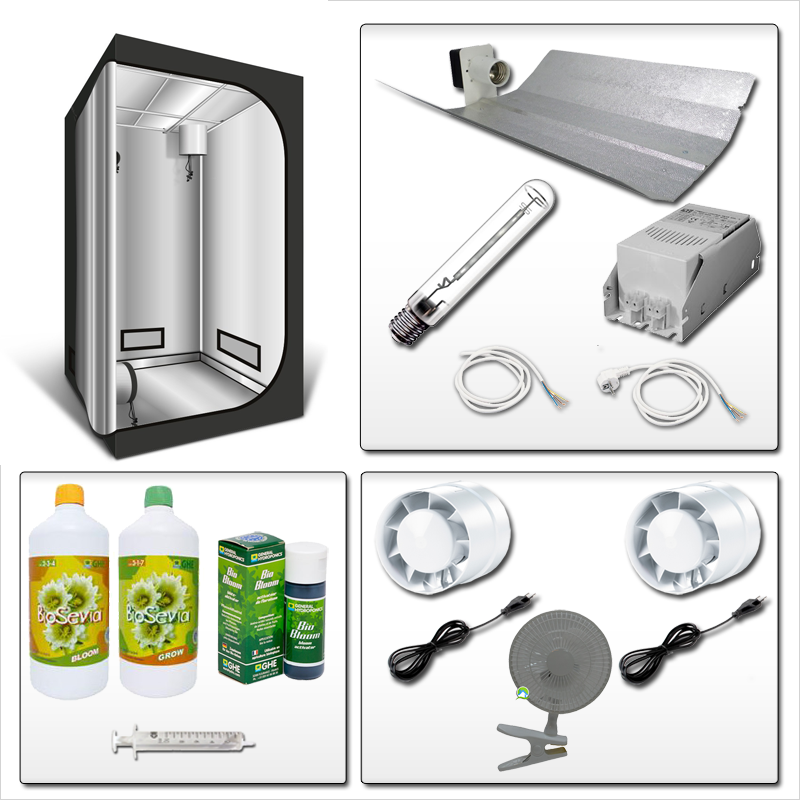 Kit complet 600w box 120x120x200 bio sevia 247 20 for Kit complet culture interieur