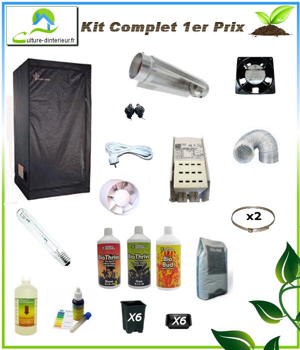 Kit complet 250w 1er prix box 80 272 91 growshop for Kit complet culture interieur