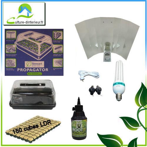 kit eco 125w serre 64 90 growshop materiel de culture interieur hyd. Black Bedroom Furniture Sets. Home Design Ideas