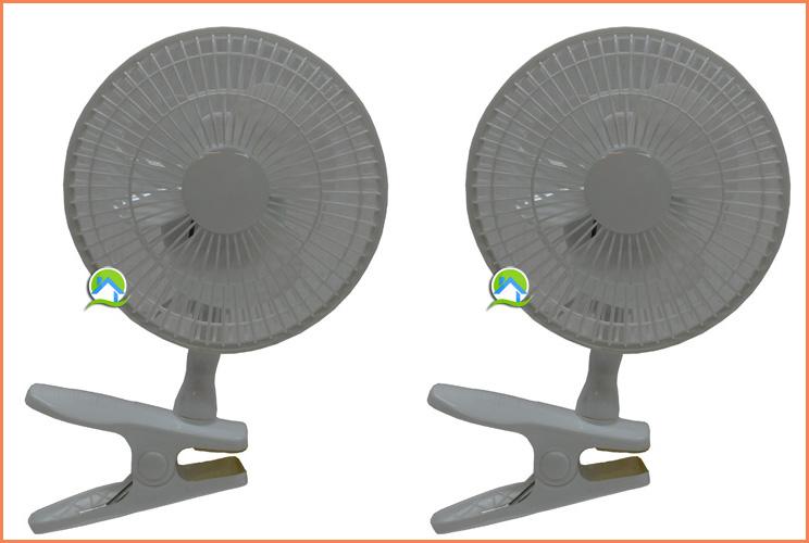 Ventilateur clips 15cm x2 24 00 growshop materiel de for Ventilateur chambre de culture