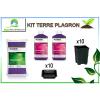 KIT PLAGRON 2x1L + terreau + pots